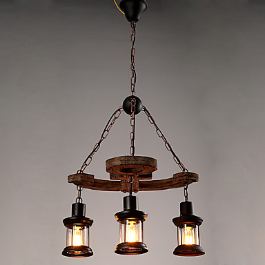 3-luz Industrial Luzes Pingente Luz Descendente - Estilo Mini, 110-120V / 220-240V Lâmpada Não Incluída / 10-15㎡ / E26 / E27