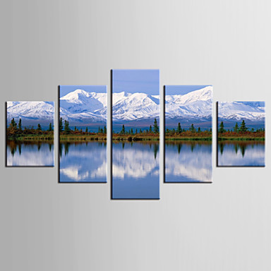 Giclée Print Landschaft Stil Modern,Fünf Panele Leinwand jede Form Druck Wand Dekoration For Haus Dekoration