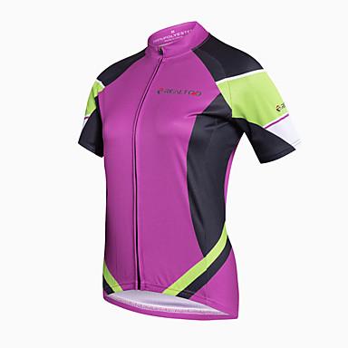 Realtoo Cyklodres Dámské Krátký rukáv Jezdit na kole Dres Vrchní část oděvu Cyklistické oblečení Rychleschnoucí Prodyšné Ter Emen