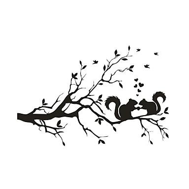 حيوانات كارتون النباتية ملصقات الحائط لواصق حائط الطائرة لواصق حائط مزخرفة, الفينيل تصميم ديكور المنزل جدار مائي جدار زجاج / الحمام