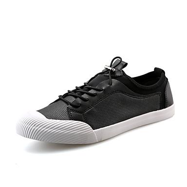 Herren Schuhe Mikrofaser Frühling Sommer Komfort Sneakers Elastisch Für Hochzeit Party & Festivität Weiß Schwarz