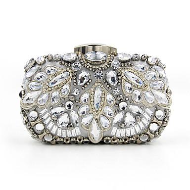 Ženy Tašky Jaro Léto Podzim Zima Celý rok Polyester Večerní kabelka Křišťál / imitace drahokamu Akrylové šperky pro Svatební Večírek