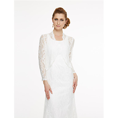 Lace Wedding Party / Evening Women's Wrap With Lace Coats / Jackets