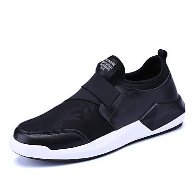 Herre sko Griseskinn Vår Høst Komfort Treningssko Nagle til Avslappet Svart Svart/Hvit Svart/Rød