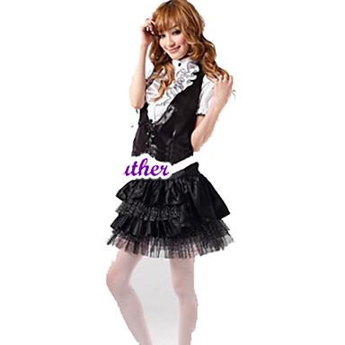 의상 달콤한 로리타 프린세스 코스프레 로리타 드레스 솔리드 짧은 소매 짧은 / 미니 에 대한