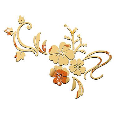 Romance Espelhos Floral Adesivos de Parede Autocolantes 3D para Parede Autocolantes de Parede Espelho Autocolantes de Parede Decorativos,
