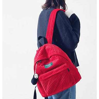 Damen Taschen Ganzjährig Leinwand Bucket Bag Rucksack mit Rüschen für Sport Gewerbliche Verwendungen Camping & Wandern Klettern Braun Rote