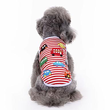 Gato Cachorro Camiseta Colete Roupas para Cães Bordado Vermelho Algodão Ocasiões Especiais Para animais de estimação Homens Mulheres Fofo