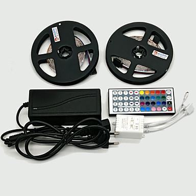 ZDM® 2x5M 10M Verlichtingssets 2*300 LEDs 1 12V 6A-adapter 1 44-toetsen afstandsbediening RGB Knipbaar Zelfklevend Decoratief 12V 1set