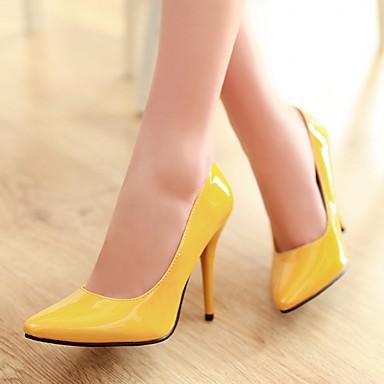Paseo Mujer formales Verano Dedo Stiletto Zapatos Puntiagudo 05868152 Semicuero Confort Otoño PU club Tacón del Tacones Zapatos Zapatos Innovador HqrgOH