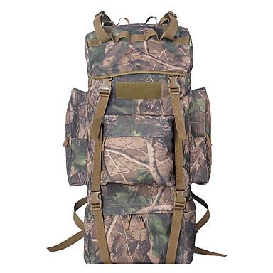 65L Mochila para Excursão - Á Prova de Humidade, Vestível, Respirável Acampar e Caminhar, Viajar Verde, Vermelho, camuflagem Brown