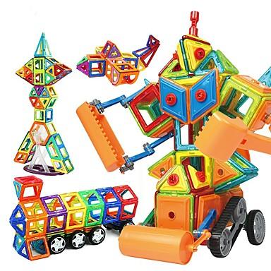 abordables Blocs Magnétiques-Blocs Magnétiques Carreaux magnétiques Blocs de Construction 168 pcs Robot Véhicule de Construction compatible Legoing Magnétique A Faire Soi-Même Education Garçon Fille Jouet Cadeau