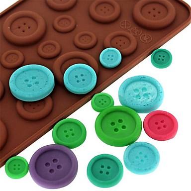 أدوات خبز سيليكون صديقة للبيئة / غير لاصقة / 3D الشوكولاتي / جليد / لكاندي الخبز العفن 1PC