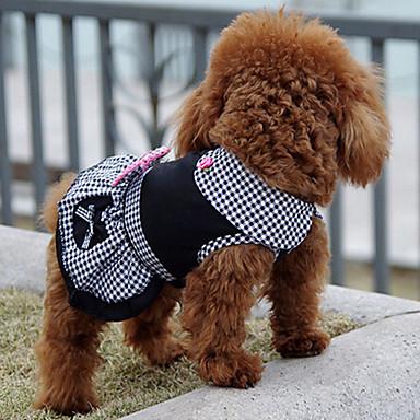 كلب الفساتين ملابس الكلاب أميرة أسود قطن كوستيوم للحيوانات الأليفة للرجال للمرأة كلاسيكي جميل كاجوال/يومي عطلة عيد ميلاد قابل للعكس موضة
