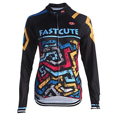 Fastcute Homens Mulheres Manga Longa Camisa para Ciclismo Moto Camisa/Roupas Para Esporte, Secagem Rápida, Respirável, Redutor de Suor,