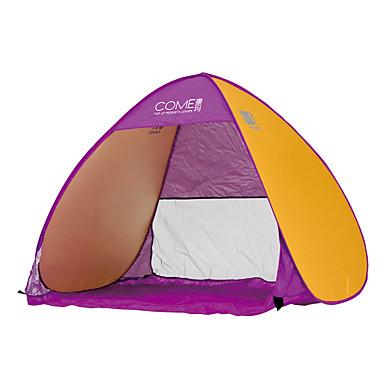 COME 3-4 사람 비치 텐트 텐트 싱글 캠핑 텐트 원 룸 자동 텐트 휴대용 자외선 방지 용 캠핑 여행 스테인레스 CM