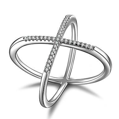 Dámské Vyzvánění Kubický zirkon Geometrik Jedinečný design Klasické Velké šperky Euramerican Rock minimalistický styl Punk Vánoce Stříbro