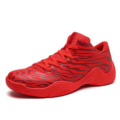 Pánské Obuv PU Jaro Podzim Pohodlné Atletické boty Běh Šněrování pro Sportovní Venkovní Červená Černá/Červená Černobílá