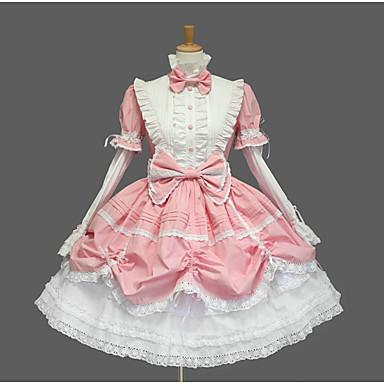 Princesa Doce Mulheres Para Meninas Vestidos Cosplay Concha Manga Curta Curto / Mini Trajes da Noite das Bruxas / Elasticidade Alta