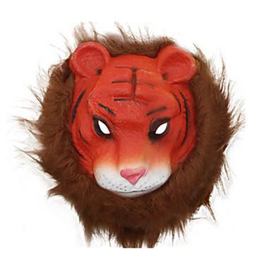 voordelige Maskers voor de feestdagen-Halloweenmaskers Dierenmasker PVC Tiger Horrorthema Unisex