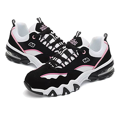 Mulheres Sapatos Couro Ecológico Primavera Verão Tênis Salto Baixo para Branco Preto Rosa claro