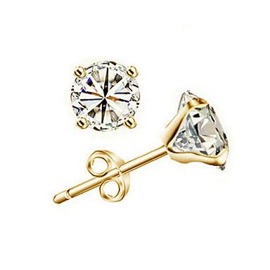 Peckové náušnice láska Srdce Pozlacené Round Shape Šperky Pro Svatební Zásnuby 1 pár
