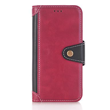 Capinha Para Samsung Galaxy J5 (2016) Carteira / Porta-Cartão / Com Suporte Capa Proteção Completa Sólido Rígida PU Leather para J5 (2017) / J5 (2016)