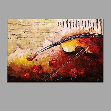 هانغ رسمت النفط الطلاء رسمت باليد - تجريدي ملخص / الحديثة / المعاصرة كنفا / امتدت قماش