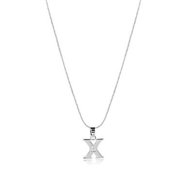 Herrn Damen Alphabet Form Gestalten Logo Stil Böhmische USA Schmuck mit Aussage Handgemacht Kräftegleichgewicht Anhängerketten