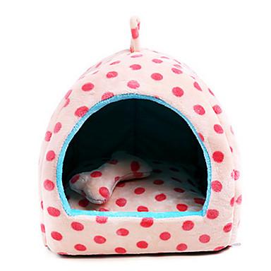 Kočka Pes pelíšky Domácí mazlíčci deky Puntíky Přenosný Prodyšné Béžová Růžová Světle modrá