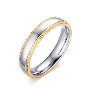 Naisten Sormus Band Ring Kulta Titaaniteräs Gold Plated 18K kultaa Pyöreä Vintage Circle minimalistisesta Häät Party Vuosipäivä