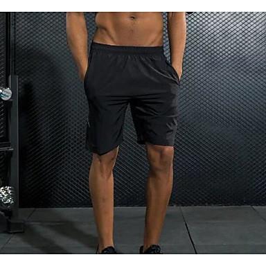 Homens Shorts de Corrida Secagem Rápida Respirável Redutor de Suor Shorts Calças Casual Exercício e Atividade Física Corrida Terylene