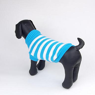 Koira Neulepaidat Koiran vaatteet Raita Vihreä Sininen Pinkki Puuvilla Asu Lemmikit Miesten Naisten Rento/arki