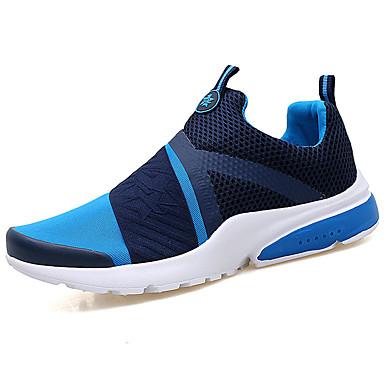 Miesten kengät PU Kevät Kesä Comfort Urheilukengät Kävely varten Kausaliteetti Musta Harmaa Punainen Sininen Pinkki