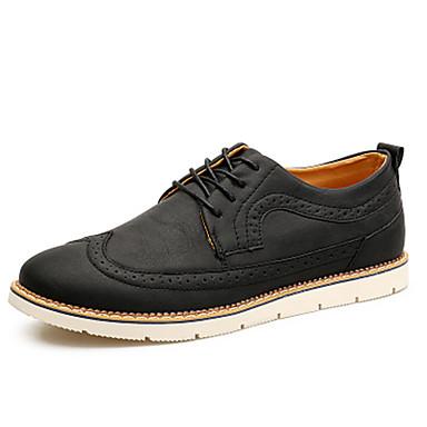 Miesten kengät PU 봄/Syksy Comfort Oxford-kengät varten Kausaliteetti Musta Kahvi Ruskea