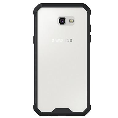 Capinha Para Samsung Galaxy A5(2017) A3(2017) Antichoque Transparente Capa traseira Côr Sólida Armadura Rígida Acrílico para A3 (2017) A5