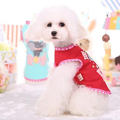 Pes Kamizelka Oblečení pro psy Prodyšné Červená Modrá Kostým Pro domácí mazlíčky