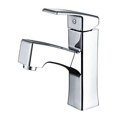 Waschbecken Wasserhahn - Verbreitete / Ausziehbare Chrom Mittellage Ein Loch