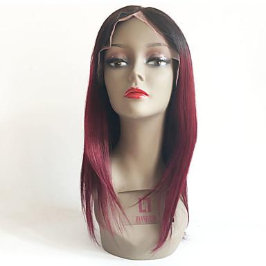Echthaar Vollspitze Perücke Glatt 130% Dichte 100 % von Hand geknüpft Afro-amerikanische Perücke Natürlicher Haaransatz Gefärbte