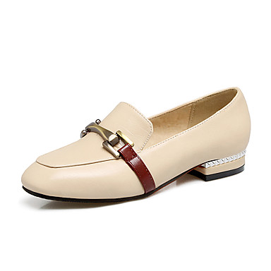 ca78c9b67 Women s Shoes Leatherette Summer Fall Light Soles Comfort Flats Flat Heel  Closed Toe Square Toe Buckle