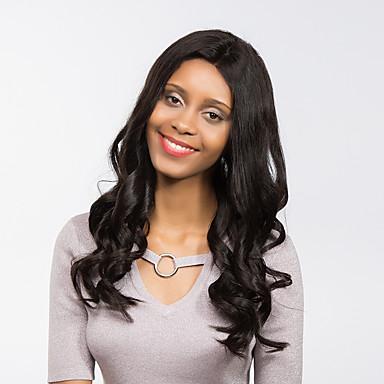 Synthetische Perücken Locken Natürlicher Haaransatz Schwarz Damen Spitzenfront Natürliche Perücke Lang Synthetische Haare