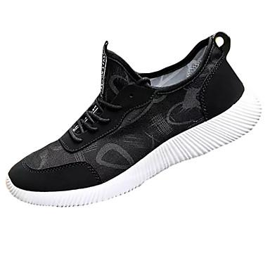 Homens sapatos Borracha Primavera Outono Conforto Tênis Cadarço para Ao ar livre Cinzento Preto/Vermelho Black / azul