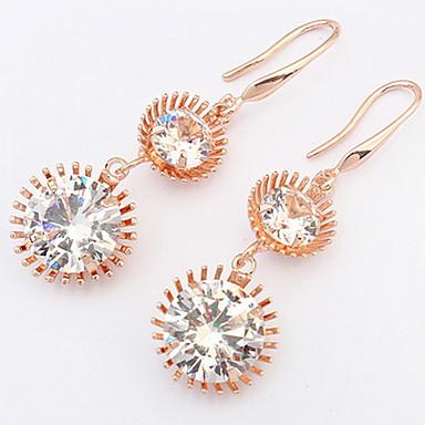 Dámské Peckové náušnice Visací náušnice Náušnice - Kruhy Syntetický diamant Přizpůsobeno Křížky a růžence Luxus Jedinečný design Logo