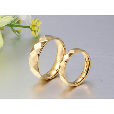 Páros Páros gyűrűk / Band Ring / Gyűrű - 18 karátos futtatott arany Klasszikus, minimalista stílusú, Elegáns 5 / 6 / 7 Arany Kompatibilitás Esküvő / Parti / Évforduló / Születésnap / Napi
