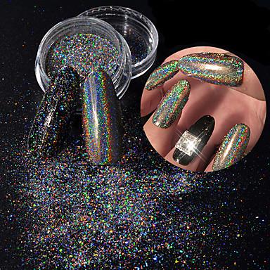 Paetês / Pó / Glitter Powder Clássico / Brilhante / Glamour Nail Art Design Diário