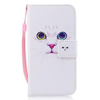 Capinha Para Samsung Galaxy J7 (2016) / J5 (2016) Carteira / Porta-Cartão / Com Suporte Capa Proteção Completa Gato Rígida PU Leather para J7 (2016) / J5 (2016) / J3 (2016)