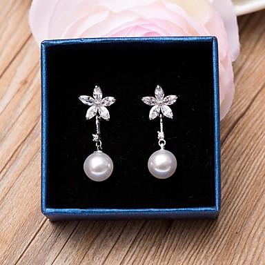 Dámské Náušnice Květinový Zirkon Kytky Šperky Svatební Párty Zvláštní příležitosti Narozeniny Zásnuby Denní