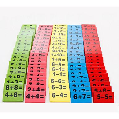 Výukové karty Stavební bloky Matematické hračky Vzdělávací hračka Obdélníkový Šetrný vůči životnímu prostředí Klasické Domino a kostičky