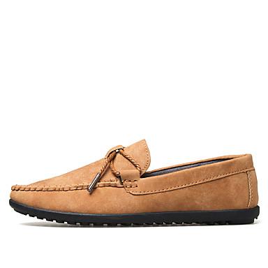 Miehet kengät Mokkanahka Kesä Syksy Mokkasiinit Mokkasiinit Käyttötarkoitus Häät Kausaliteetti Juhlat Harmaa Laivaston sininen Khaki