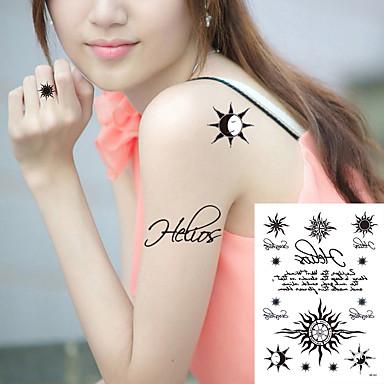 Tetovací nálepky Ostatní Non Toxic Waterproof Dámské Pánské Dospívající Flash Tattoo dočasné tetování